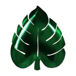 Meri Meri - Talerzyki Liść palmowy zielony
