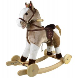 Konik Mustang na biegunach z kołami