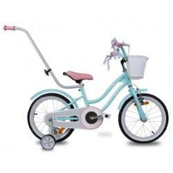 """Rowerek dla dzieci 14"""" Star bike - turkusowy z różowym siodełkiem"""