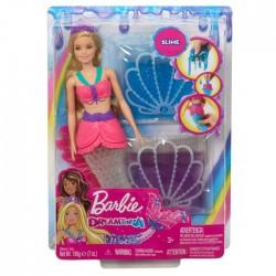 Barbie Syrena Brokatowy slime Lalka
