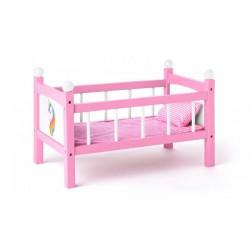 Łóżeczko dla lalek z jednorożcem
