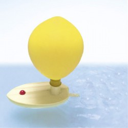 Łódka napędzana powietrzem z balonika