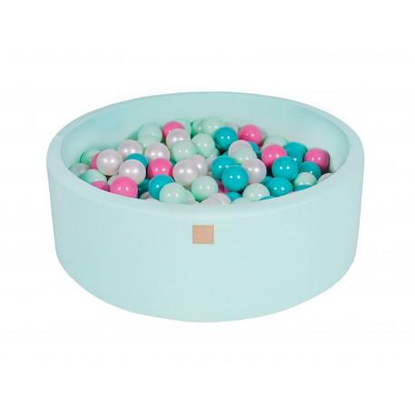 Suchy basen dla dziecka 90x30 cm + 200 piłek - miętowy
