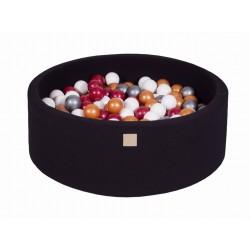 Suchy basen dla dziecka 90x30 cm + 200 piłek - czarny