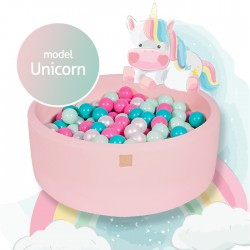 Suchy basen dla dziecka 90x40 cm + 250 piłek - Unicorn