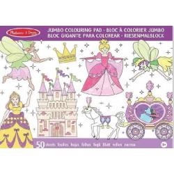 Kolorowanka dla dziewczynki Wróżki i Księżniczki - 50 arkuszy