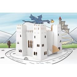 Kartonowy Baśniowy zamek - zestaw 10 sztuk