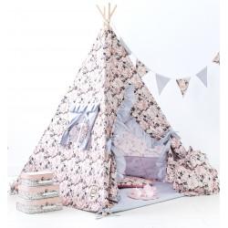 Namiot tipi dla dziecka Flower - zestaw