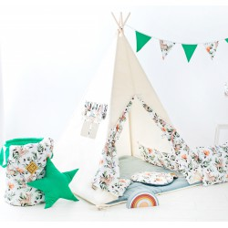 Namiot tipi dla dziecka Animals - zestaw