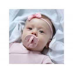 Silikonowy smoczek dla niemowląt różowy