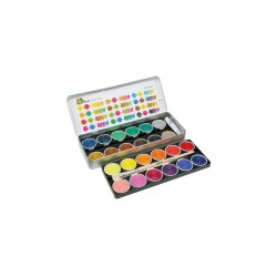 Farby 24 kolory plus biała i pędzle
