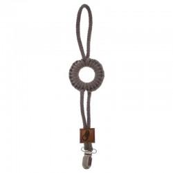 Hi Little One - sznurkowa zawieszka z kółkiem do smoczka Pacifer holder with RING Dark Oak