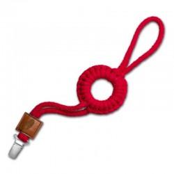 Hi Little One - sznurkowa zawieszka z kółkiem do smoczka Pacifier holder with RING Red