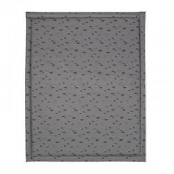 Jollein - Mata wodoodporna do łóżeczka 75 x 95 cm Spot STORM GREY