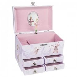 Pozytywka z czterema szufladami i baleriną