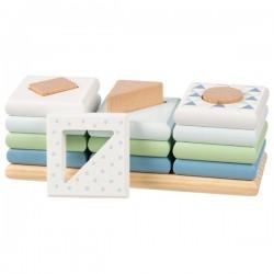 Układanka kształty na palikach Goki Lifestyle niebieska