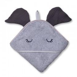 Hi Little One - Ręcznik z kapturem 100 x 100 ELEPHANT hooded bath towel Iron