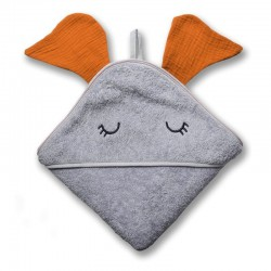 Hi Little One - Ręcznik z kapturem 100 x 100 ELEPHANT hooded bath towel Pumpkin