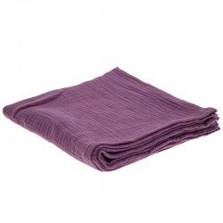 Hi Little One - Otulacz muślinowy 100 x 100 cm z organicznej BIO bawełny GOTS muslin swaddle Lavender