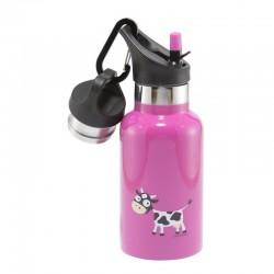 Carl Oscar TEMP Bottle - Butelka termiczna ze słomką ze szlachetnej stali nierdzewnej Purple - Cow