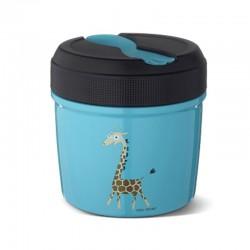 Carl Oscar TEMP Lunch Jar - Termos ze szlachetnej stali nierdzewnej 0,5 L Tourquise - Giraffe