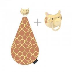 Dumforter 3in1 smoczek z gryzakiem + kocyk przytulanka Żyrafa Gerry