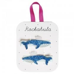 Rockahula Kids - spinki do włosów Blue Whale