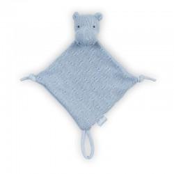 Jollein - przytulanka dou dou z zawieszką na smoczek Hippo Blue
