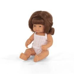 Lalka dziewczynka Europejka 38cm (rude włosy) Miniland Doll