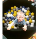 Suchy basen dla dzieci z piłeczkami 90x30 okrągły - czarny