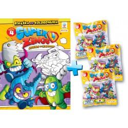 Superzings 4 - Książka do kolorowania + 3 figurki