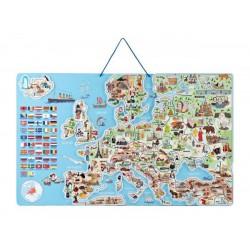 Magnetyczna mapa Europy XXXL