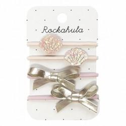 Rockahula Kids - 4 gumki do włosów Shimmer Shell Ponies