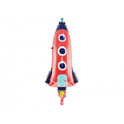 Balon foliowy Rakieta, 44x115cm, mix
