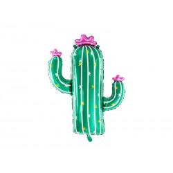 Balon foliowy Kaktus 60x82cm - mix