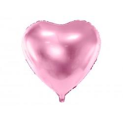Balon foliowy Serce 45cm - jasny róż