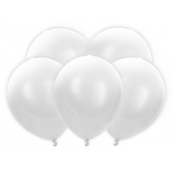 Balony Led 30cm, biały (1 karton / 50 op.) (1 op. / 5 szt.)
