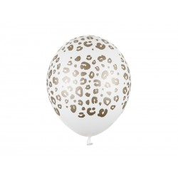 Balony 30 cm, Cętki, Pastel Pure White (1 op. / 50 szt.)
