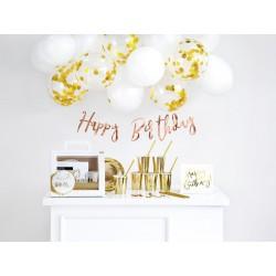 Zestaw dekoracji party - Urodziny, złoty (1 op. / 60 szt.)