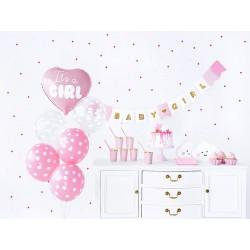Zestaw dekoracji party - It's a girl (1 karton / 8 op.)