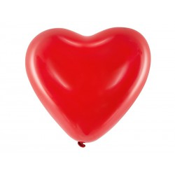 Balony 16'' Serca, Pastel czerwony (1 op. / 100 szt.)