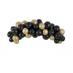 Girlanda balonowa - czarno-złota, 200cm (1 op. / 60 szt.)