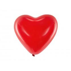 Balony 10'' Serca, Pastel czerwony (1 op. / 100 szt.)