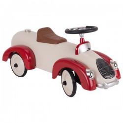 Jeździk wyścigowy czerwono-biały