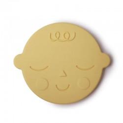 Mushie - Gryzak silikonowy FACE Banana Cream