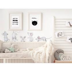 Naklejki na ścianę - myszki
