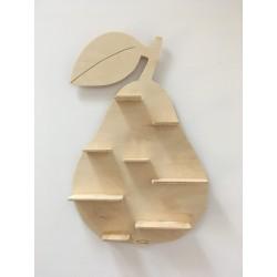 Drewniana półka gruszka