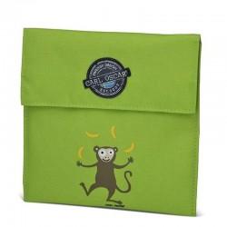 Carl Oscar Pack'n'Snack Sandwich Bag torebka termiczna na kanapki Lime - Monkey