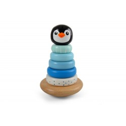 Piramidka z pingwinkiem niebieska