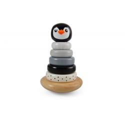 Piramidka z pingwinkiem czarna